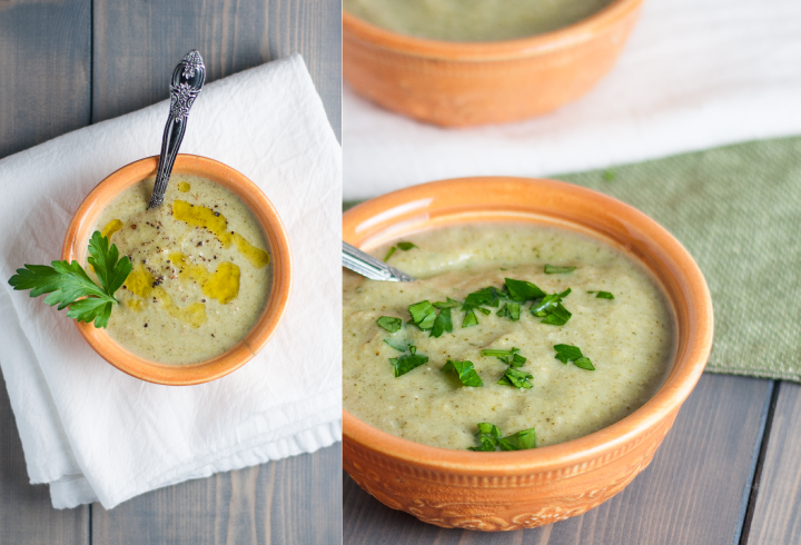 Gluten free broccoli cheese soup