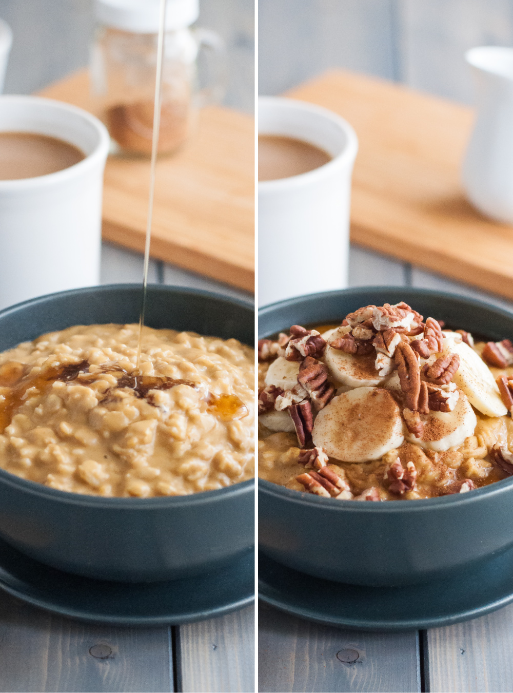 Easy maple pumpkin oatmeal with sun butter | Natural Comfort Kitchen | #quick #breakfast #glutenfree
