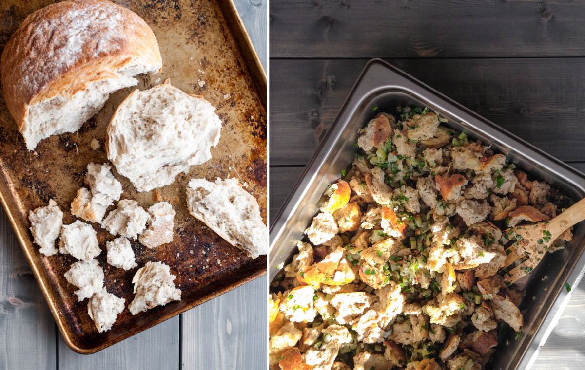 Classic homemade stuffing recipe and an impressive, make ahead-friendly winter dinner party menu