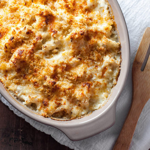 Roasted Cauliflower and Smoked Cheddar Gratin - Natural Comfort ...