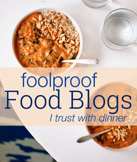 My favorite foolproof food blogs and other good links