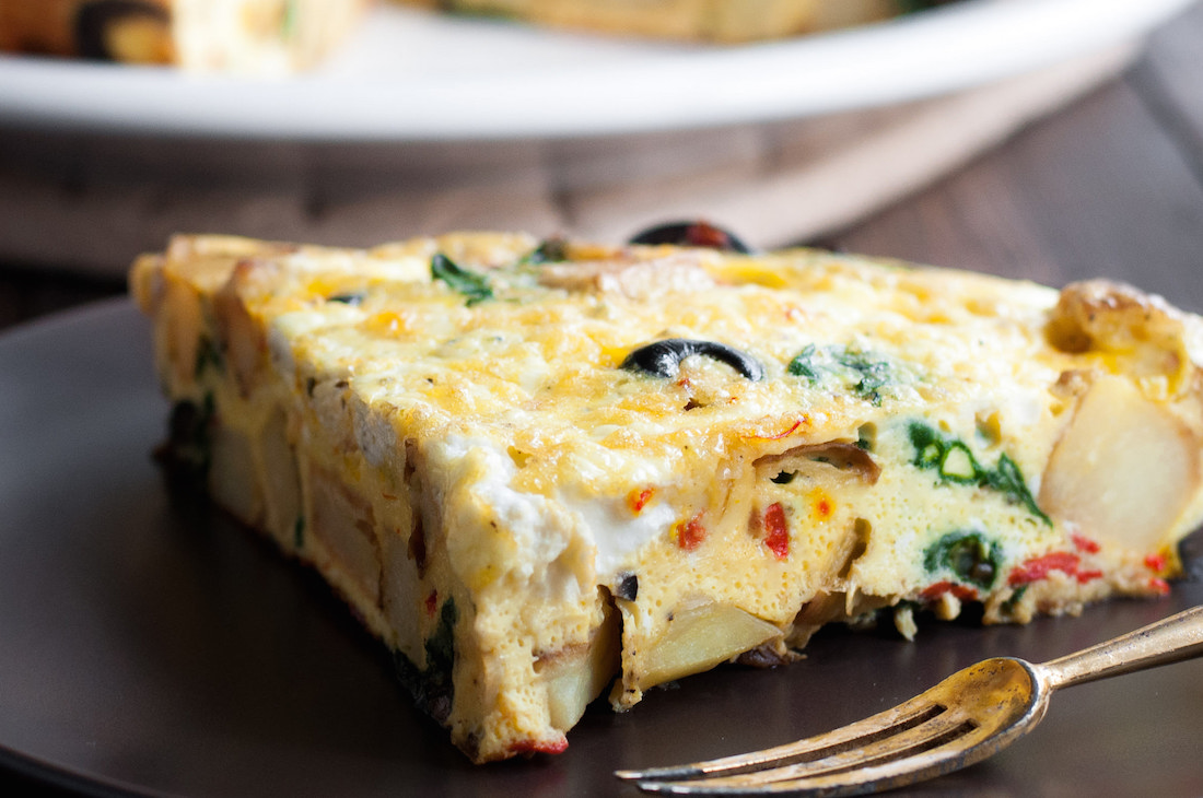 Three Cheese Spanish Potato Frittata - Natural Comfort Kitchen