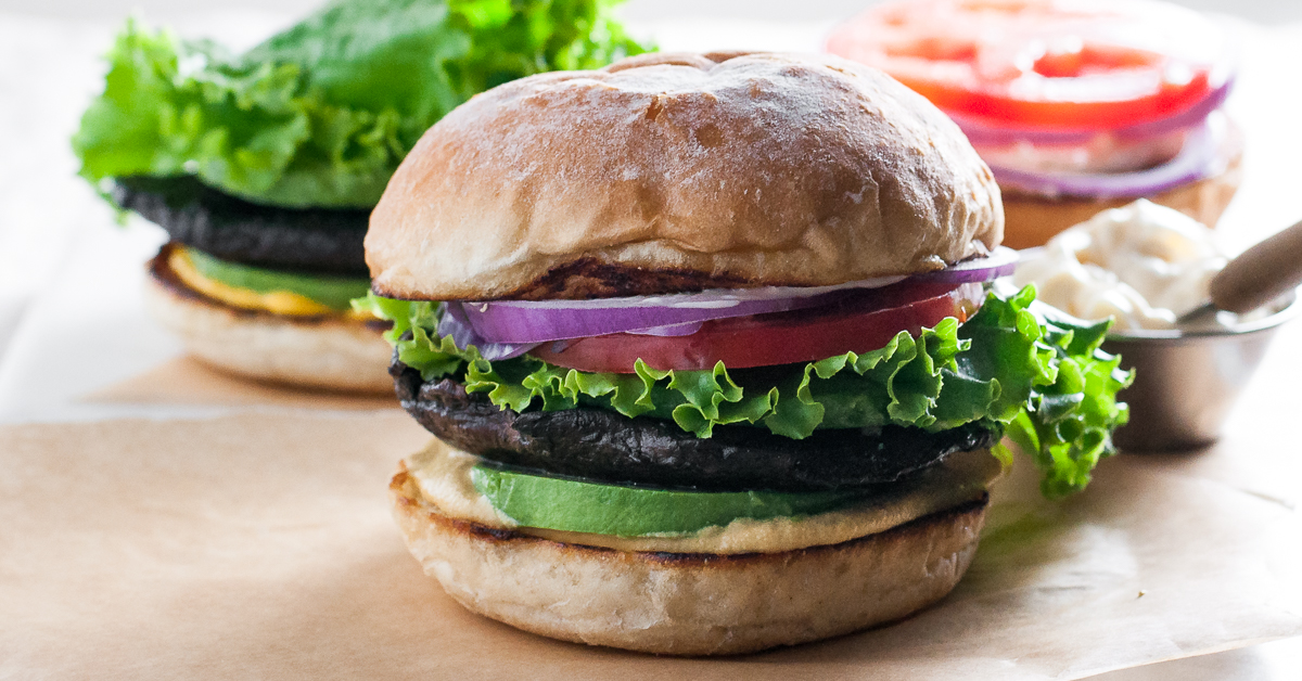 Marinated Portobello California Burger - Natural Comfort ...
