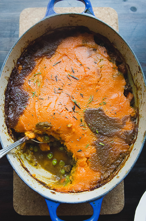 Gluten free curried shepherd's pie by Gina
